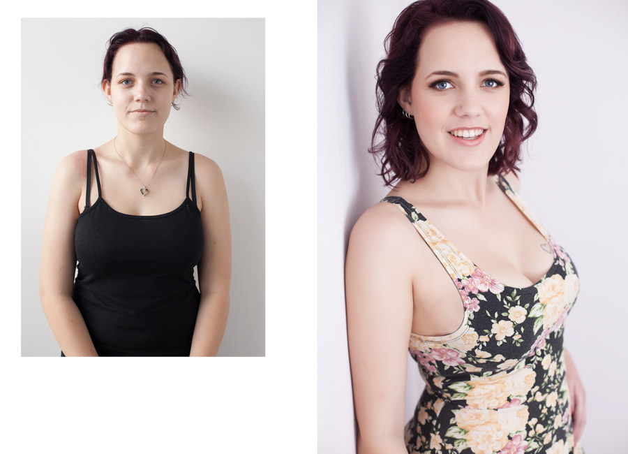 Images by Brad - before & after - fashion inspired portraiture